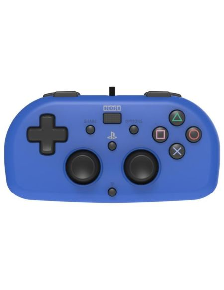 Hori Mini Manette Filaire Bleue Pour PS4 - Licence Officielle Sony