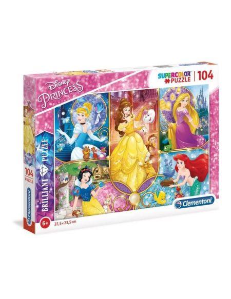 DISNEY PRINCESSES Puzzle Brilliant 104 pièces