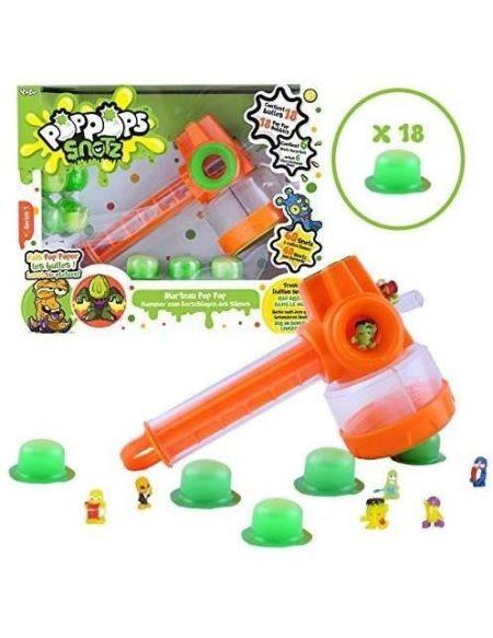 POPPOPS - Marteau Pop pop - 1 marteau, 18 bulles de slime verte à éclater & 6 figurines surprises à collectionner