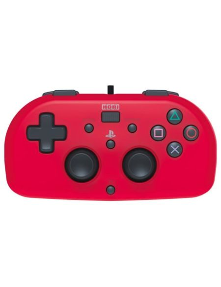 Hori Mini Manette Filaire Rouge Pour PS4 - Licence Officielle Sony