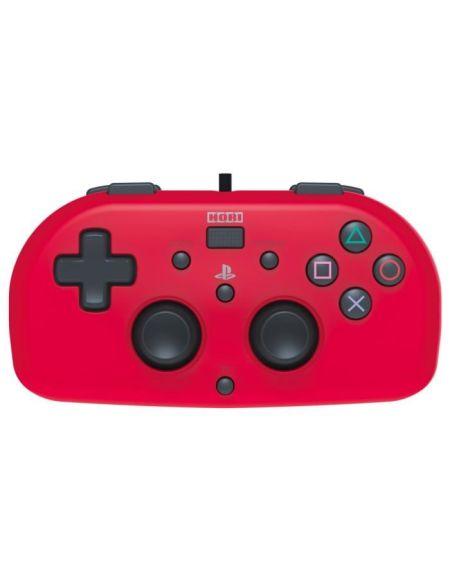Hori Mini Manette Filaire Rouge Pour PS4 - Licence Officielle Sony