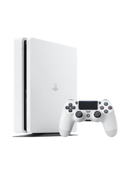 Console PS4 Slim 500Go Blanche/Glacier White - PlayStation Officiel