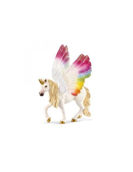 SCHLEICH - Figurine 70576 Licorne ailée arc-en-ciel
