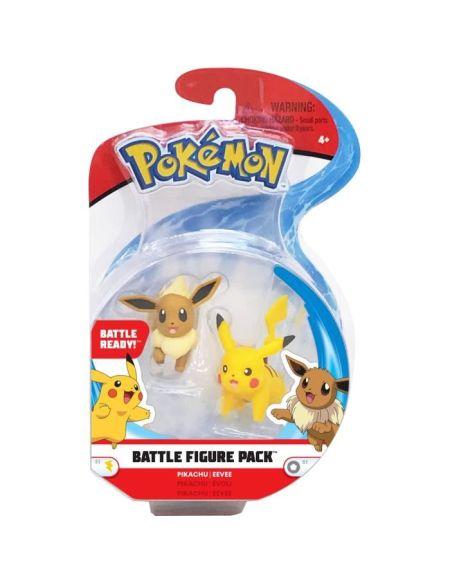 POKEMON - Figurines 5 cm Pikachu & Evoli