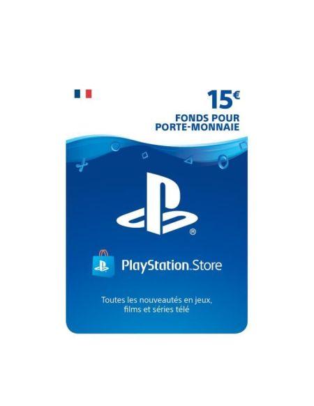 15€ Fonds pour porte-monnaie virtuel à utiliser sur le PlayStation Store - Code de Téléchargement pour PS4