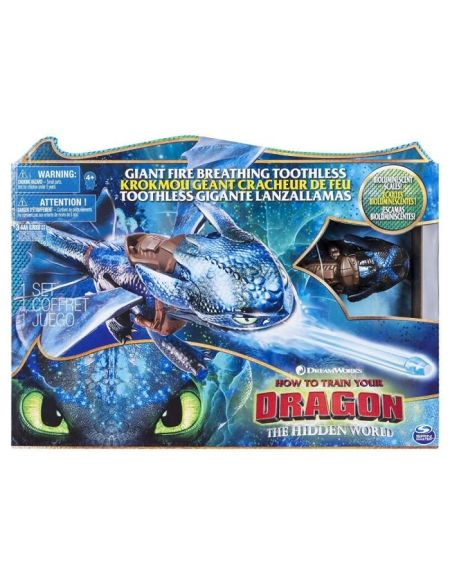 DRAGONS 3 - Figurine Krokmou Cracheur de Flammes