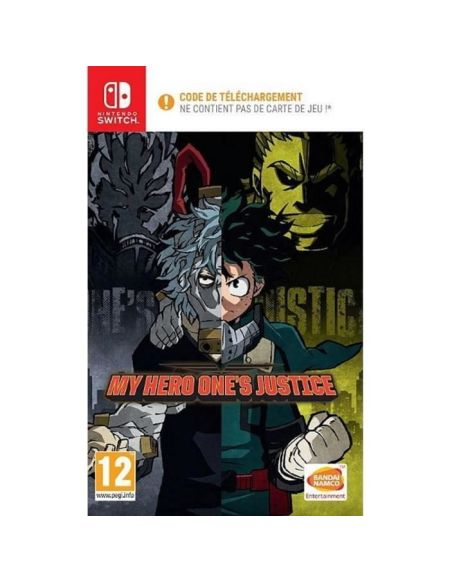 My Hero One's Justice Jeu Nintendo Switch - Code in a box