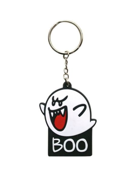 Porte-clés caoutchouc Mario: Boo