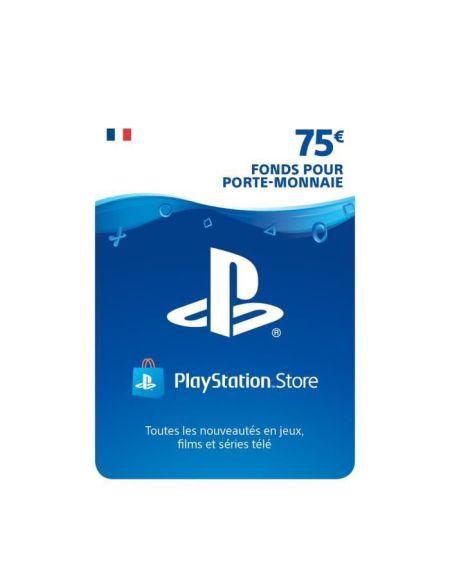 75€ Fonds pour porte-monnaie virtuel à utiliser sur le PlayStation Store - Code de Téléchargement pour PS4