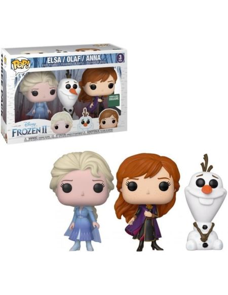 Coffret Figurines Funko Pop! Disney : La Reine des Neiges 2 - Elsa / Olaf / Anna (Exclusivité Cdiscount)