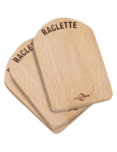 KUCHENPROFI Planche raclette en bois de hêtre - 4 pièces