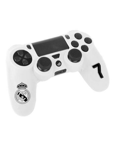 Kit e-sport Real Madrid N°7 - Blanc - Pour manette PS4