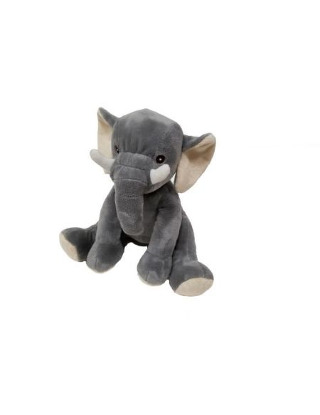 Peluche Elephant - assis - 21 cm