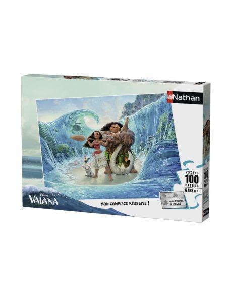 Puzzle 100 pièces Disney Bienvenue chez Vaiana avec trieur de pièces NATHAN - 6 ans et +