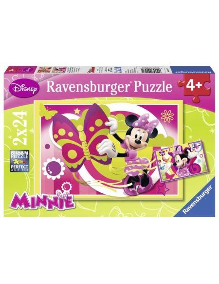 MINNIE Puzzle Journée Avec Minnie 2x24 pcs - Disney