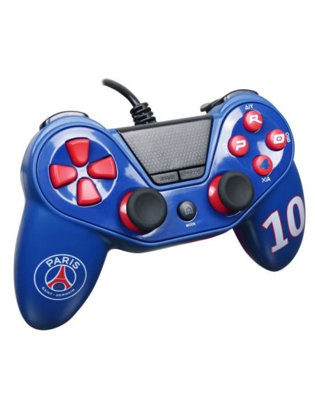 Manette Pro4 Paris Saint Germain pour Playstation 4 - PS4 Slim - PS4 Pro - Playstation 3 - PC - PSG Numéro 10
