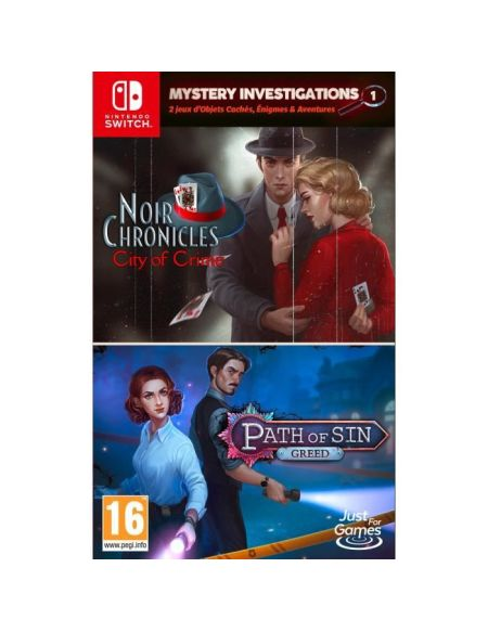 Mystery Investigations 1 - Path of Sin : Greed + Noir Chronicles: City of Crime Jeu Nintendo Switch
