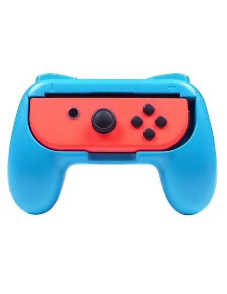 Subsonic - Grips manette pour Joy-Cons Nintendo Switch - Pack de 2 poignées de confort pour Joy Cons rouge et bleu fluo