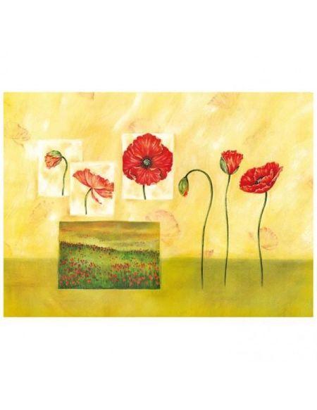 Planche à découper Fleurs 40x50cm - vitrocéramique