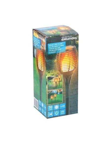 Torche Solaire LED effet flamme vacillante - Ø 9x H59 cm