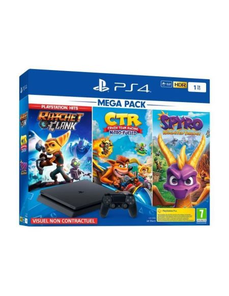 PS4 1To + Spyro Reignited Trilogy + Crash Team Racing + Ratchet & Clank