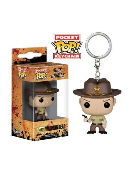 Porte-clé Funko Pocket Pop! The Walking Dead : Rick Grimes