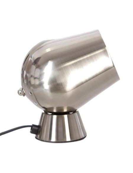 Lampe à poser déco touch en métal - Ø 12,5 x H 18 cm - Argent