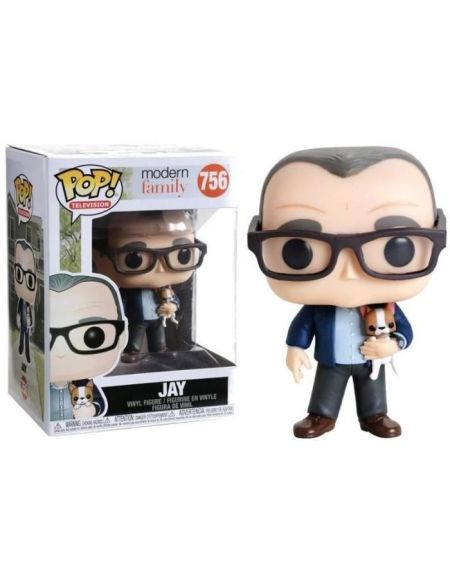 Figurine Funko Pop! Modern Family: Jay et son chien
