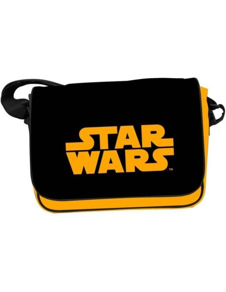 STAR WARS Sac Besace - Logo STAR WARS Orange - Noir