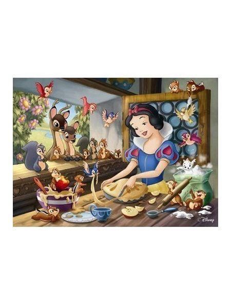 Puzzle 60 pièces Disney Blanche-Neige fait de la pâtisserie avec trieur de pièces NATHAN - 6 ans et +