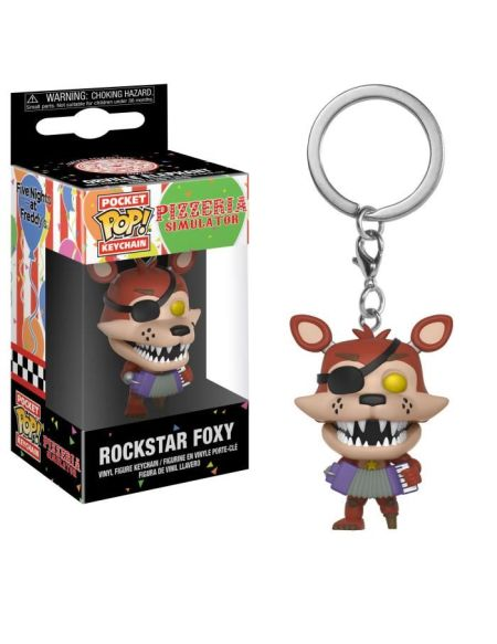 Porte-clé Funko Pocket Pop! Five Nights At Freddy's: Pizza Simulator: Rockstar Foxy