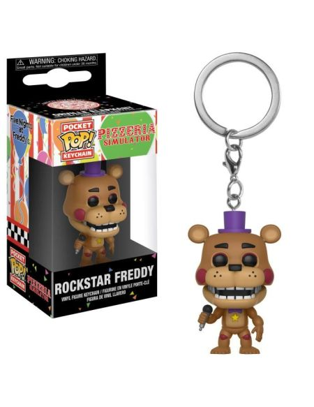 Porte-clé Funko Pocket Pop! Five Nights At Freddy's: Pizza Simulator: Rockstar Freddy