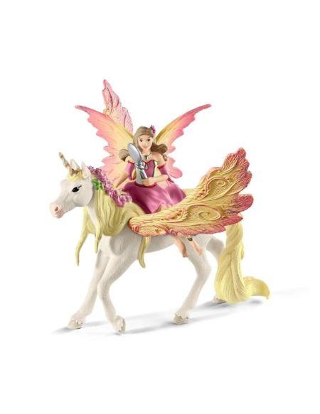 SCHLEICH - Figurine 70568 Fée Feya et une licorne ailée