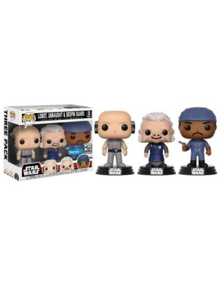 Figurine Toy Pop 3 - Star Wars - Pack de 3 - Lobot, Ugnaught, Dengar