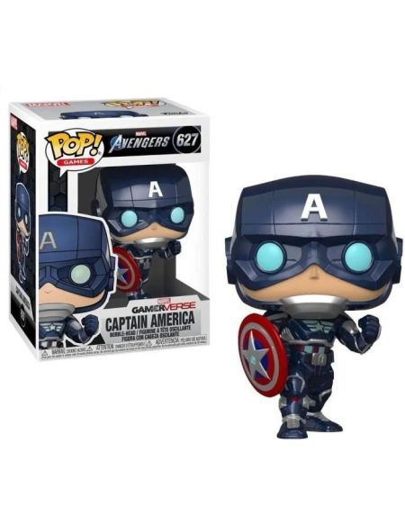 Figurine Funko Pop! Marvel: Avengers Game - Captain America (Stark Tech Suit)