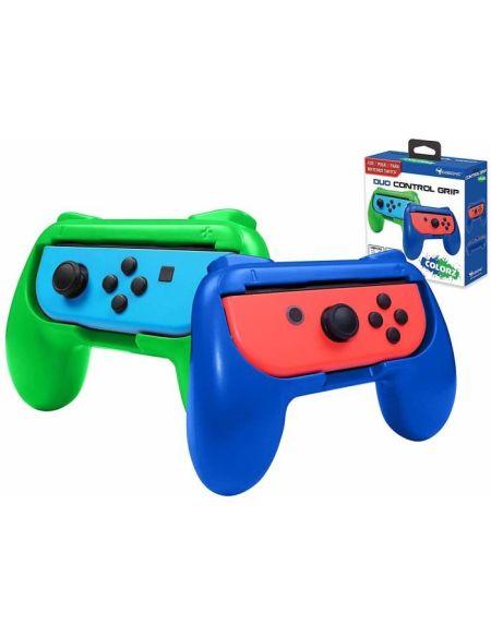 Subsonic - Grips manette pour Joy-Cons Nintendo Switch - Pack de 2 poignées de confort pour Joy Cons Bleu et Vert