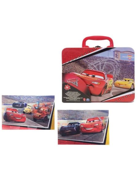 CARS 3 Grande Valisette Métal de 2 Puzzles Lenticulaires