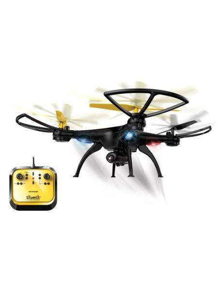 SILVERLIT - Drone Télécommandé Spy Racer avec Caméra Embarquée - Jaune et Bleu - 38 CM