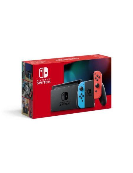 Nintendo Switch 1.1 Avec 1 Joy-con Rouge Neon + 1 Joy-con Bleu Neon