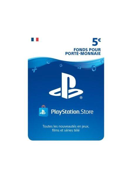 5€ Fonds pour porte-monnaie virtuel à utiliser sur le PlayStation Store - Code de Téléchargement pour PS4