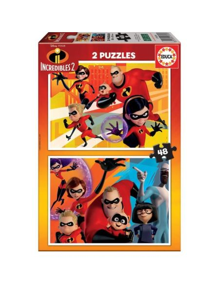 DISNEY Puzzles 2X48 Les Indestructibles 2