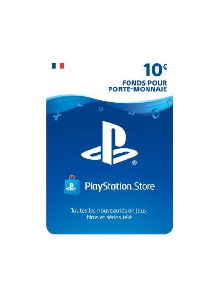 10€ Fonds pour porte-monnaie virtuel à utiliser sur le PlayStation Store - Code de Téléchargement pour PS4