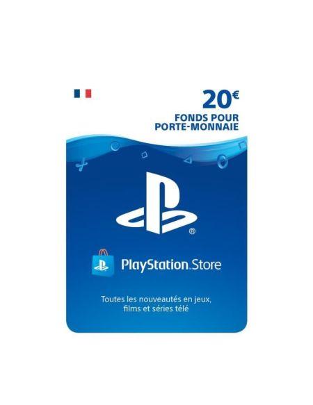 20€ Fonds pour porte-monnaie virtuel à utiliser sur le PlayStation Store - Code de Téléchargement pour PS4