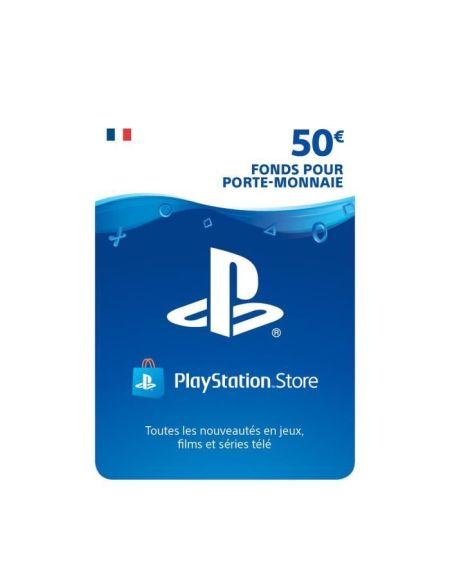 50€ Fonds pour porte-monnaie virtuel à utiliser sur le PlayStation Store - Code de Téléchargement pour PS4