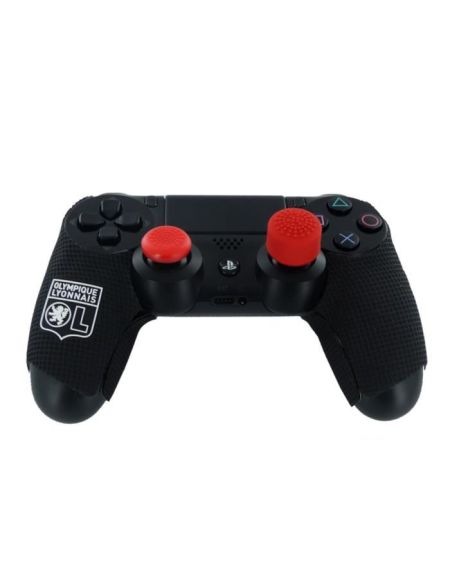OL olympique Lyonnais - Kit e-sport pour manette PS4,playstion 4 - Grips caoutchoutés, grips de précision et gâchettes quickfire