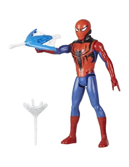 Marvel Spider-Man – Figurine Spider-Man Titan Hero Blast Gear avec lanceur et projectile - 30 cm