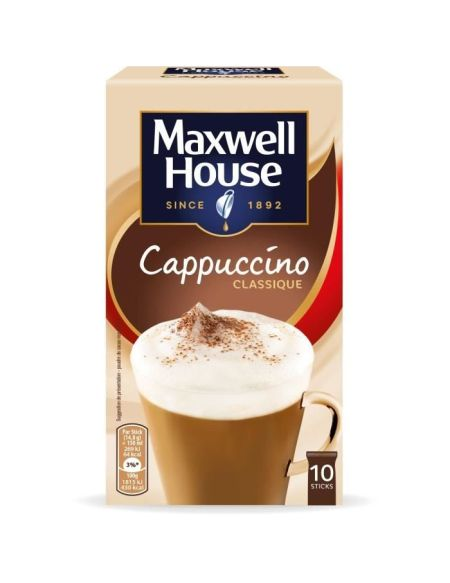 Maxwell House Cappucino Soluble en sticks x10 -148gr