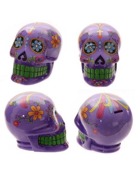 Tirelire Mexicain - 20 cm - Violet