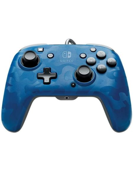 Manette filaire Nintendo Switch PDP | Camouflage Bleu