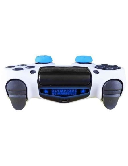 OM Olympique de Marseille - Pack d'accessoires de customisation pour manette PS4, coque en silicone, grips et sticker - n°13
